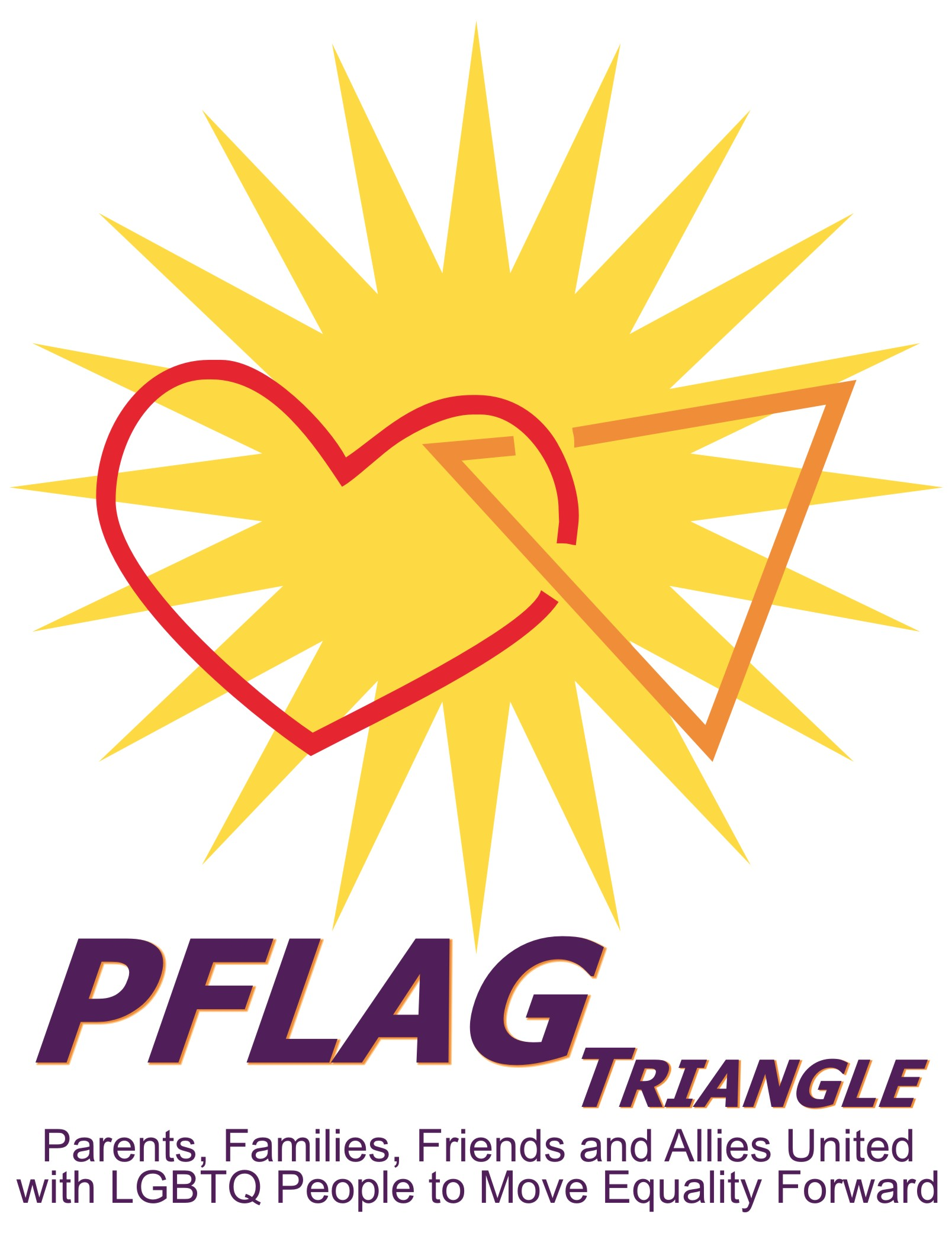 PFLAG Triangle Logo vertical with tag line